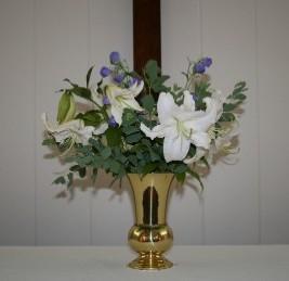 Casa Blanca Lilies With Baptisia
