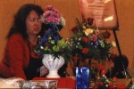 Marie Demonstrating Italian Floral Design