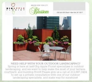 Florist Offering Landscaping Services
