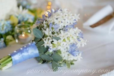 Bridal Bouquet With Stephanotis, Delphinium, Eucalyptus