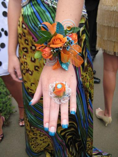 Flower Ring & Prom Wrist Corsage