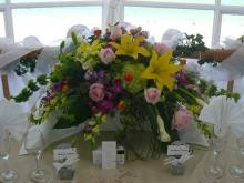 Trendy Floral Centerpiece From Bay Bouquet Floral Studio