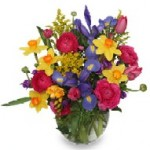 """""""Spring Promises"""" bouquet--perfect for table tops."""