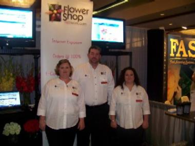 Flower Shop Network Coordinators Amy Hall, Joe Hayes, Rebecca Speer