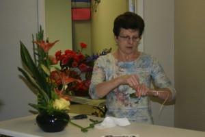 Regina Shaping Equisetum For A Fall Arrangement