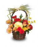 """Charming For Fall"" Flower Basket"