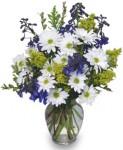 See how blue delphinium makes this arrangement pop?