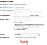 Google Accounts Information Fields