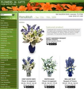 Hanukkah Flowers - Florist eCommerce Page