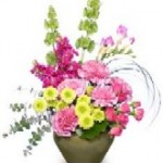 """""""Charming Collection"""" spring flowers--A dazzling contemporary display."""