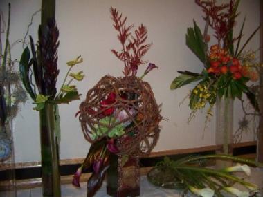 Colage of Flower Arrangements