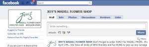 Jeff's Madill Flower Shop Facebook Page