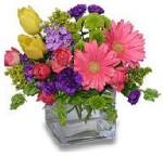 """Birthday Confetti"" Arrangement With Pink Daisies"