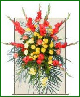 Standing Spray Funeral Flower Arrangement