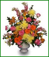Funeral Flowers in Table Arrangement Style
