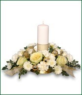 Candle Centerpiece provided by Stephen Smith Florists' Review