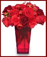 Holiday Bouquet Using Powerful Red Flowers