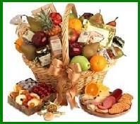 Gourmet & Fruit Gift Basket