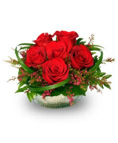 Rosy Red Posy Flower Arrangement