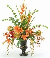 Colorful Variety of Permanent Flowers in an Urn