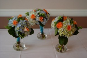 Short Vase Bouquet Centerpieces from The Flower Patch