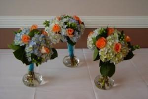Short Vase Bouquet Centerpieces from The Flower Patch