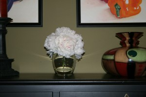 White Peonies In Vase