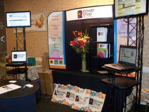 Flower Shop Network Display at FSFA Convention 2009