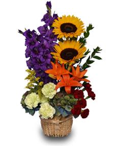 Flower Arrangement with Kale