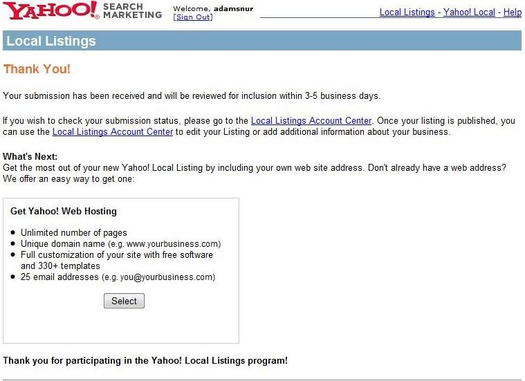 Are You Ready To Claim Your Yahoo Local Listing?