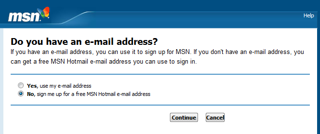 MSN Email Address