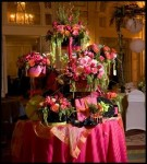 Table of Victorian Style Arrangements
