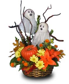 """Boo!"" Flower Basket"