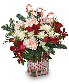 christmas flowers with accessories - Christmas Flower Decorations
