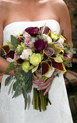 October Wedding Flowers Fall Wedding Bouquet More Autumn Leaves ...