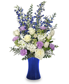 Festival of Flowers - featuring July's Larkspur