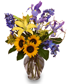 """1st Class Friendship"" Bouquet With Iris"