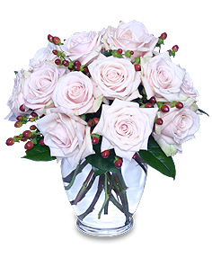 """Rare Beauty"" Pale Pink Roses Bouquet"