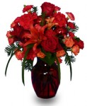 """Ruby Red Regalia"" Vase Arrangement"