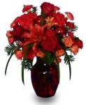 """""""Ruby Red Regalia"""" Vase Arrangement"""