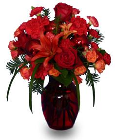 Ruby Red Regalia Vase Arrangement
