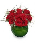 Low-Profile Red Rose Arrangement