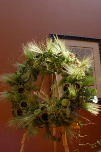 Deconstructed Sunflower Wreath