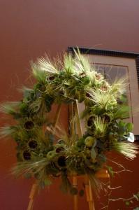 Deconstructed Sunflower Wreath