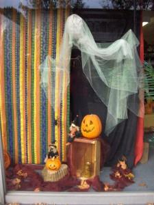 Halloween Ghost Window Display
