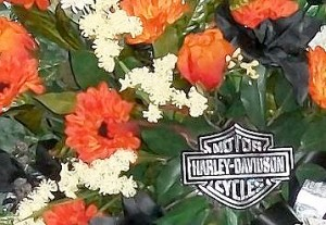 Personalized Funeral Flowers Harley Davidson