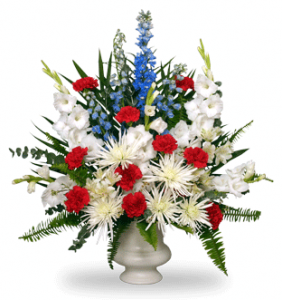 Memorial Tribute Flowers for Veterans