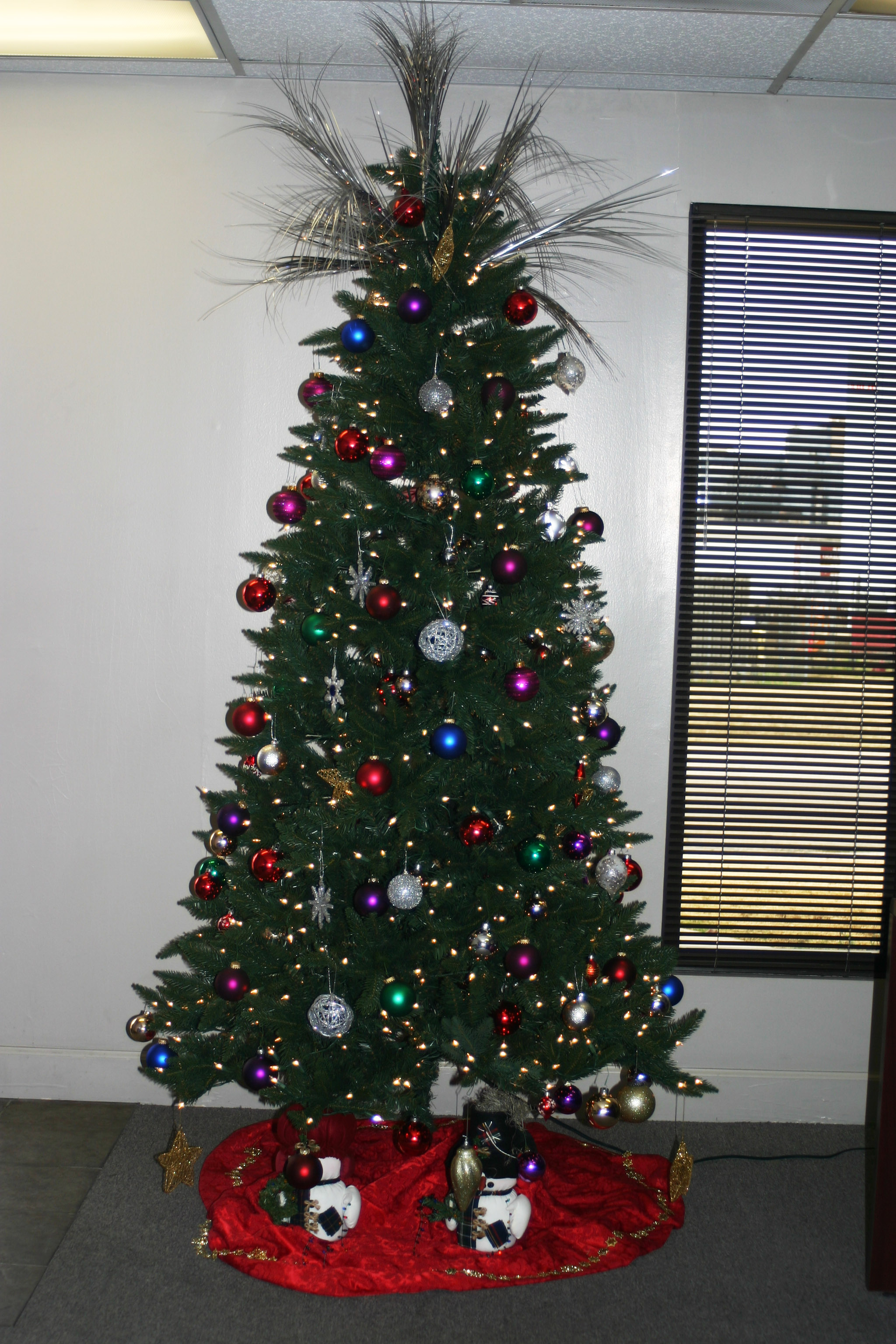 Celebrating the holidays at fsn for Office christmas trees