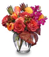 Fall Flirtation Vase Arrangement
