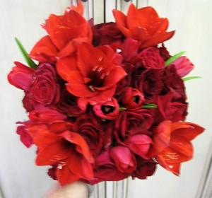 Amaryllis Wedding Bouquet